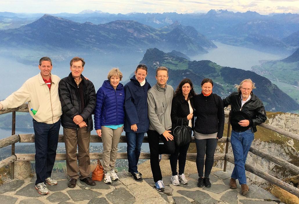 Team on Mt Pilatus Outing